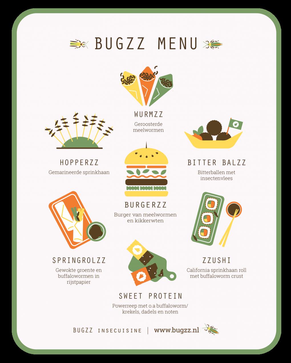 Insecten op evenement | BUGZZ | Insecuisine | Menu
